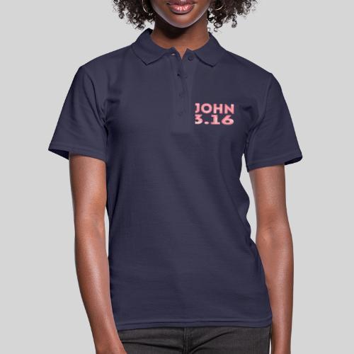 Johannes 3 Vers 16 Bibelversdesign - Frauen Polo Shirt