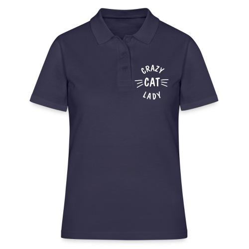 Vorschau: Crazy Cat Lady meow - Frauen Polo Shirt