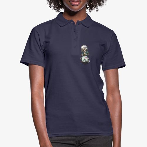 Skullterist - Solo Big Print - Frauen Polo Shirt