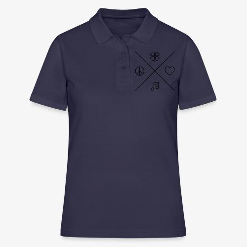 Peace - Love - Music - Luck - Frauen Polo Shirt