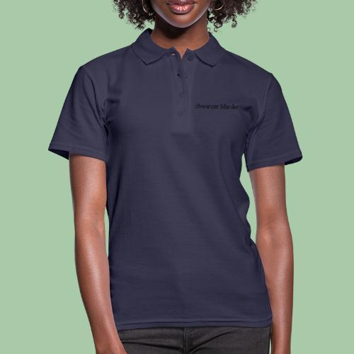 schwarzer Marder - Frauen Polo Shirt