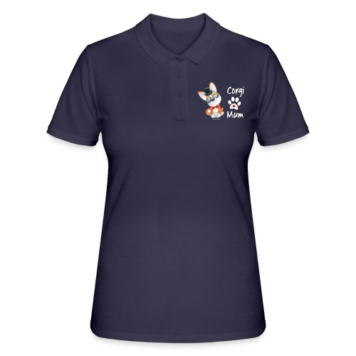 Corgi mum tophat - Women's Polo Shirt
