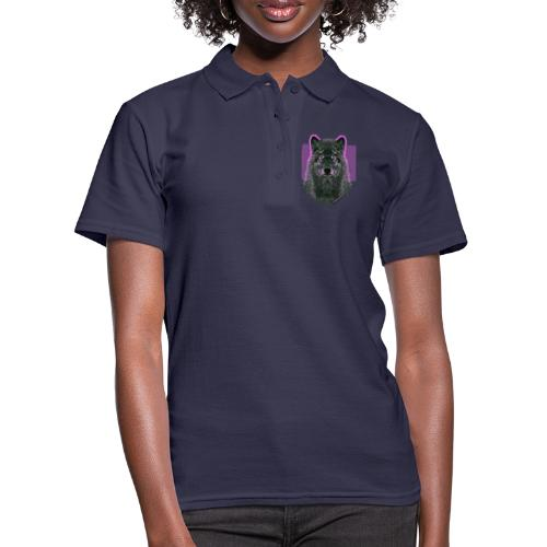 WOLF PINK IN LOVE - Frauen Polo Shirt