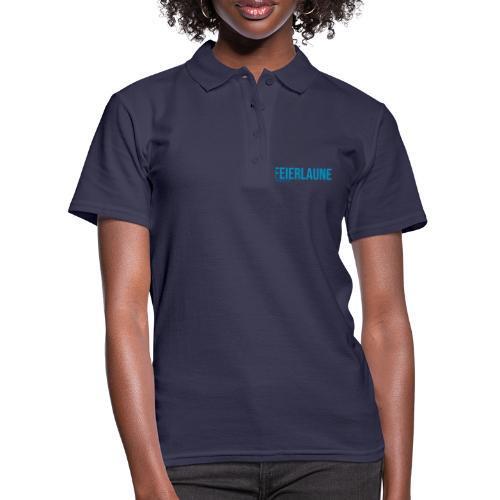 FEIERLAUNE - Print in blau - Frauen Polo Shirt