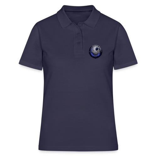 Rigormortiz Metallic Blue-Black Design - Women's Polo Shirt