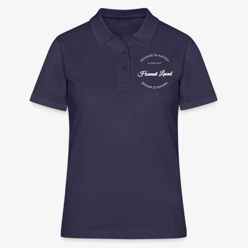 hoamatlaund mit bissl an weißen Text - Frauen Polo Shirt