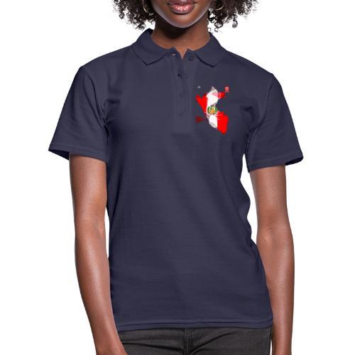 Mapa del Perú, Bandera y Escarapela - Camiseta polo mujer