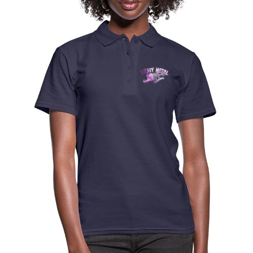 heavy metal pinklogo - Frauen Polo Shirt