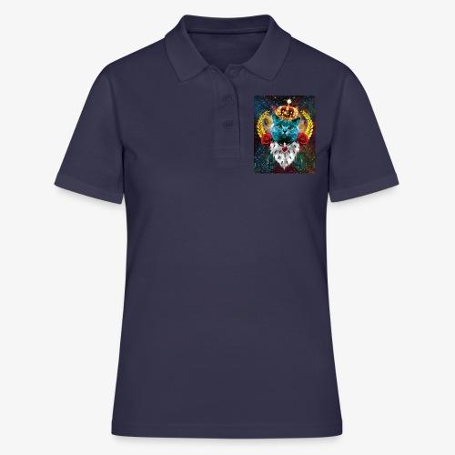 01 Blue Cat King Katze Queen Rosen - Frauen Polo Shirt