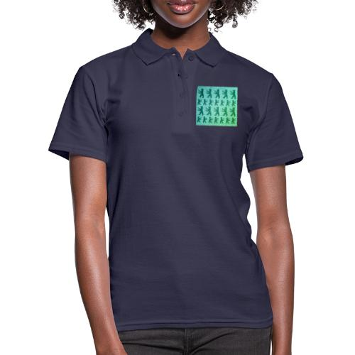 berlin baer pattern - Frauen Polo Shirt
