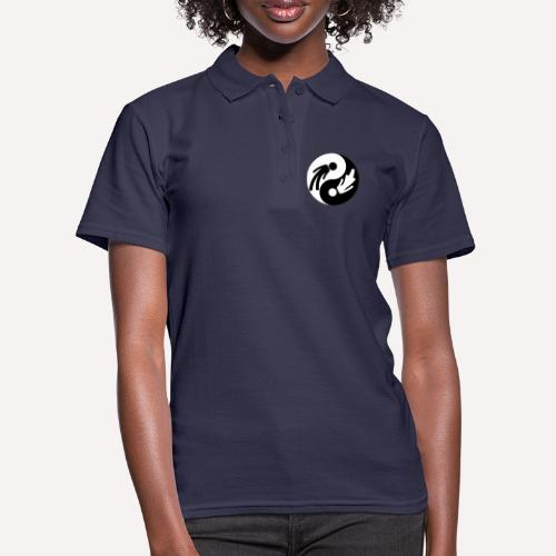 Yin Yang Male Female Symbol Duality Print - Women's Polo Shirt