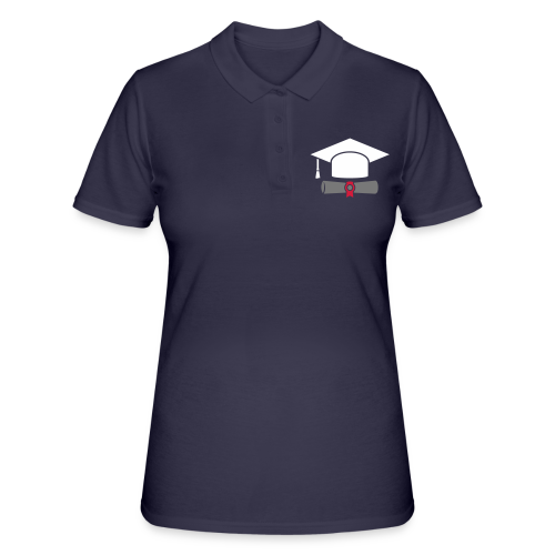 Doktorhut mit Zeugnis - Geschenk zum Abschluss - Frauen Polo Shirt