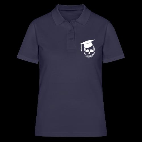 Schädel mit Doktorhut - Geschenk Examen, Prüfung - Frauen Polo Shirt