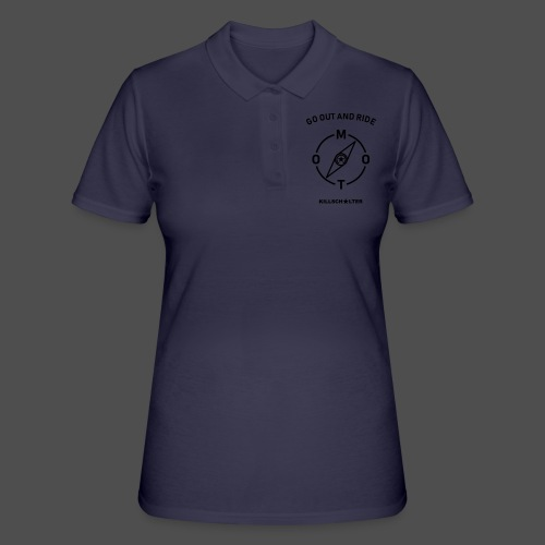 ride moto kompass - Frauen Polo Shirt