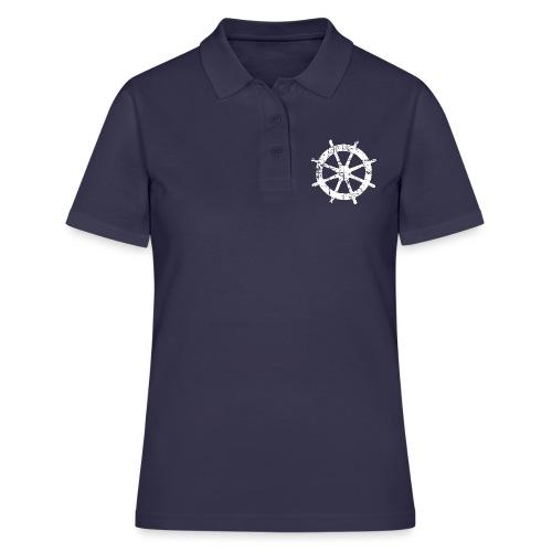 Steuer Steuerrad Segeln Segelboot (Vintage/Weiß) - Frauen Polo Shirt