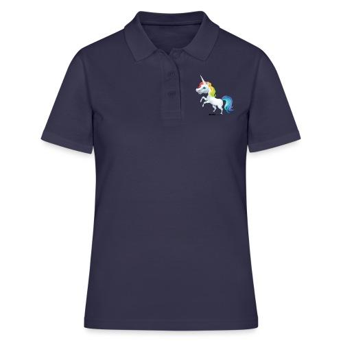 Tęczowy jednorożec - Koszulka polo damska