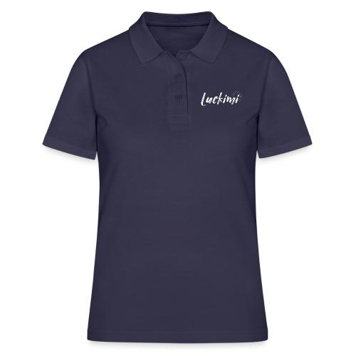 Luckimi logo white - Women's Polo Shirt