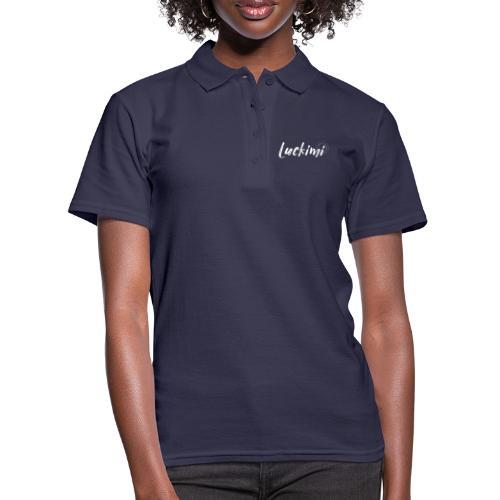 Luckimi logo vit - Women's Polo Shirt