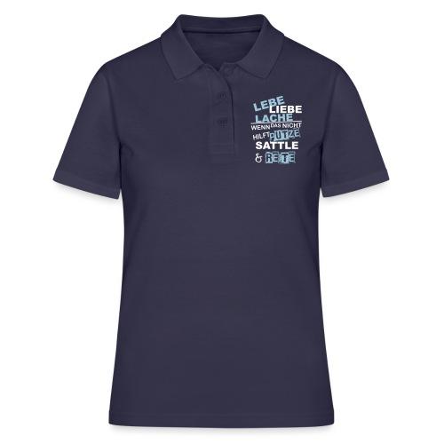 Lebe Liebe Lache Reite - Frauen Polo Shirt