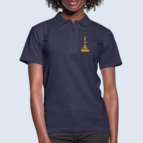 """Berliner Original """"Siegessäule"""" PopArt Design - Frauen Polo Shirt"""