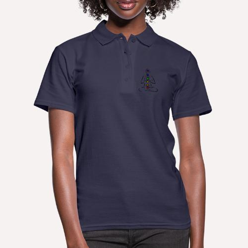 Illustrated Chakras Spirituel Yoga Print Design - Women's Polo Shirt