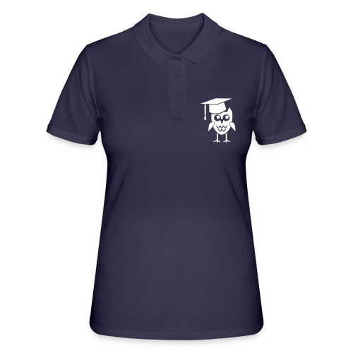 Eule mit Doktorhut Geschenk Promotion Dissertation - Frauen Polo Shirt