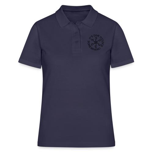 Dive o clock Black - Women's Polo Shirt