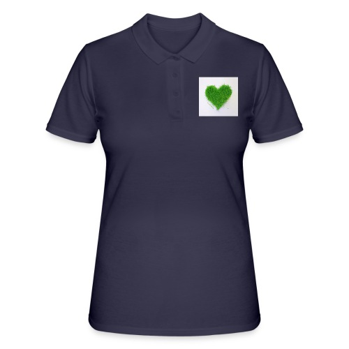 Herzrasen Button - Frauen Polo Shirt