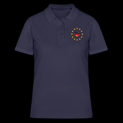 Europa Deutschland Herz - Frauen Polo Shirt