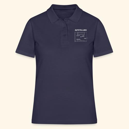 Fussball Aufstellung Weltmeisterschaft Geschenk - Frauen Polo Shirt