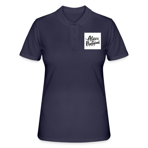 Alice in Nappyland Typography Black 1080 1 - Women's Polo Shirt