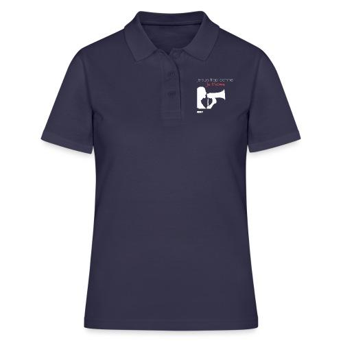 je suis trop conne je t'aime - megaphone - Women's Polo Shirt