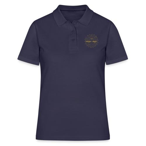 I am unique magic gold mandala - Frauen Polo Shirt