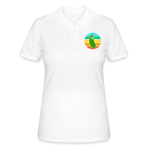 Vintage Colored Pickle #6 - Women's Polo Shirt