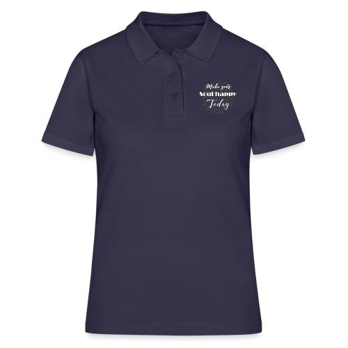 Make your soul happy today - white mandala - Frauen Polo Shirt