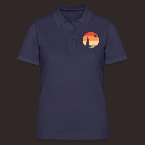 Sonnenuntergang | Leuchtturm Dämmerung - Frauen Polo Shirt