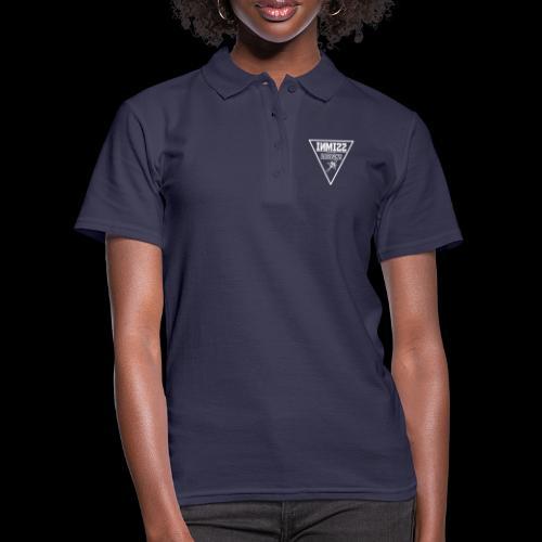 Triangle White Rose Design - Women's Polo Shirt