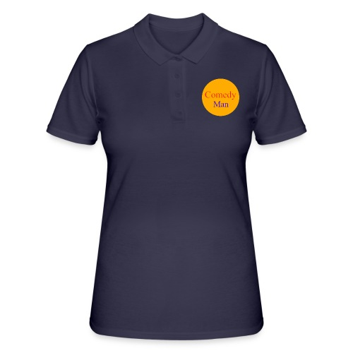 comedy man logo - Women's Polo Shirt