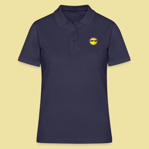coole Sonne mit Sonnenbrille - Frauen Polo Shirt