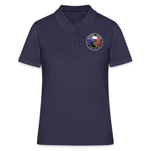 Ecusson rond noir Maitre-Chien Rottweiler - Women's Polo Shirt