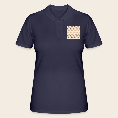 mops muster 2 - Frauen Polo Shirt