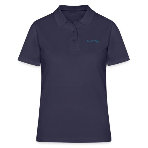 DTWear - It`s a D-Thing - Blue / Blauw - Women's Polo Shirt