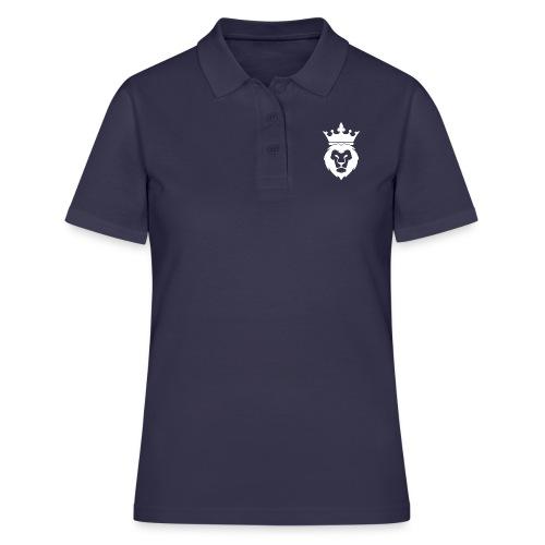 Lion_Logo_with_Crown_St--rre_bild_-white- - Women's Polo Shirt