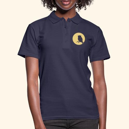 Moon owl - Frauen Polo Shirt