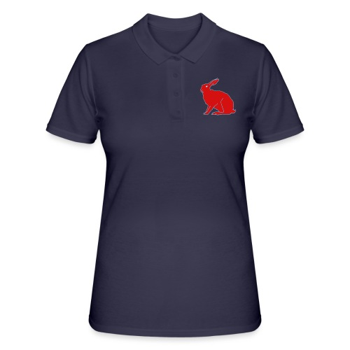 Roter Hase - Frauen Polo Shirt