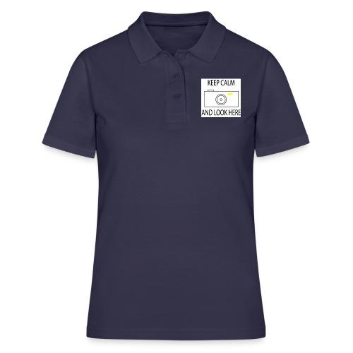 Keep calm and look here - Frauen Polo Shirt