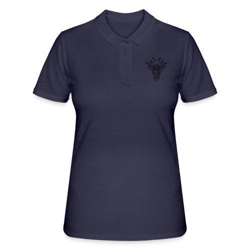 Mystical Animal, Black - Women's Polo Shirt