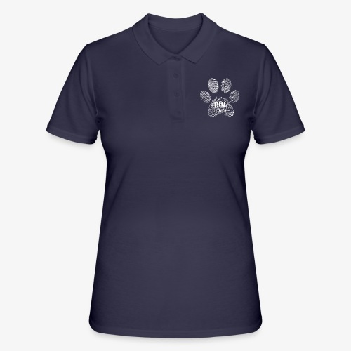 dog lover paw - Frauen Polo Shirt