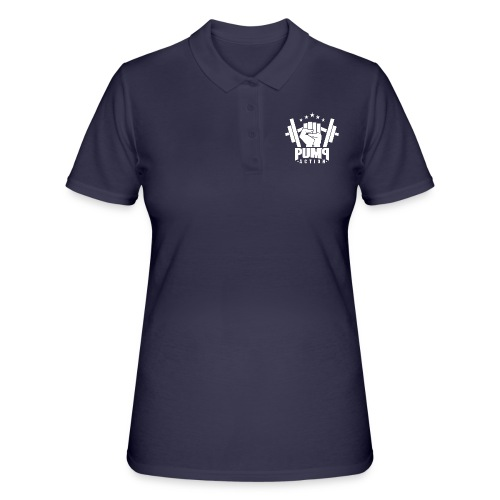 PUMP-ACTION LOGO WHITE - Frauen Polo Shirt
