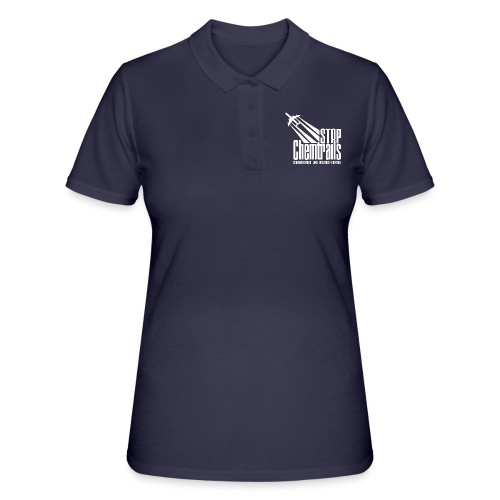 STOP CHEMTRAILS - white print - Women's Polo Shirt
